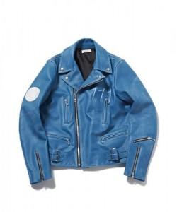 NAOTO SEVEN ライダースジャケットのブルー